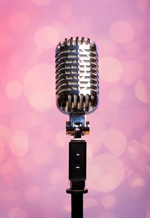 Professional Vintage Microphone Stock Image