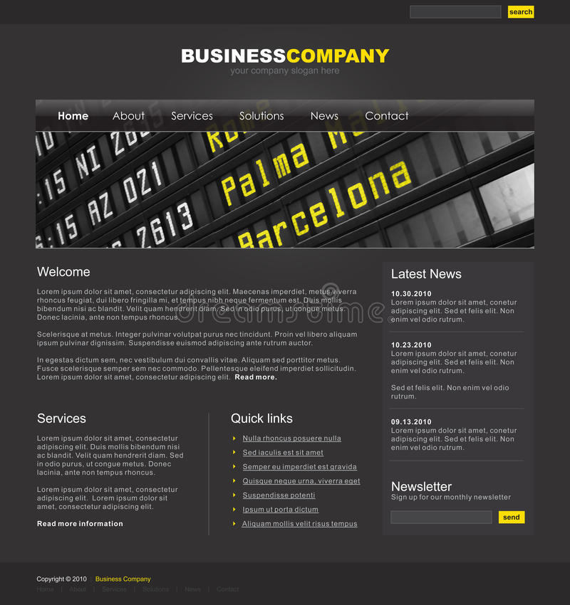 Free Professional Website Template Stock Photography - 12702992