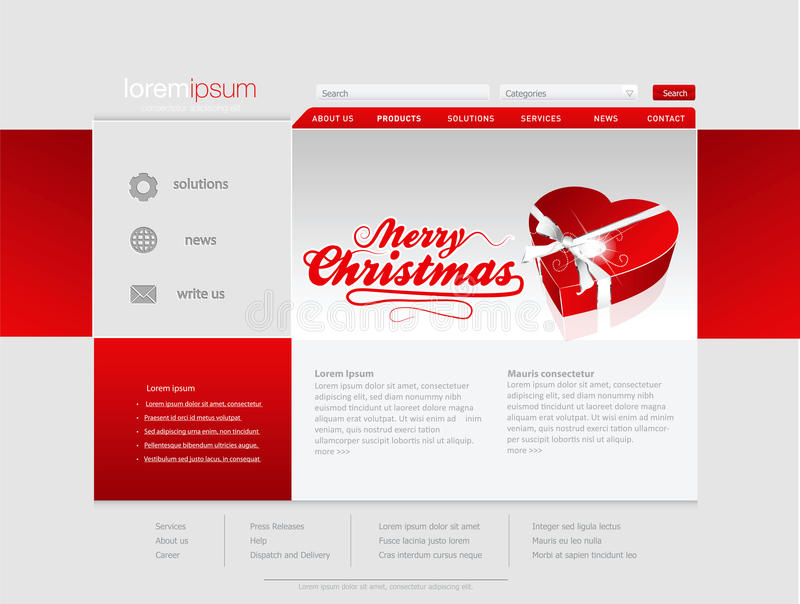 Download Professional Website Template Stock Vector - Image: 27780752