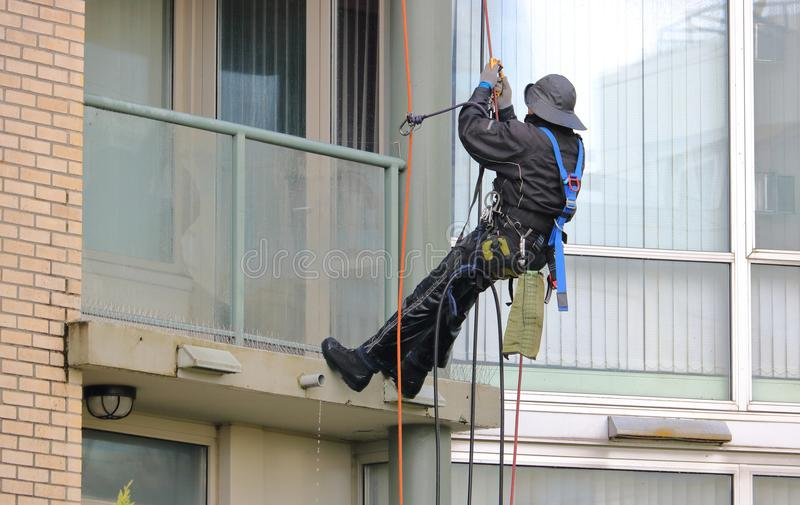 Window Cleaner and Gear stock image
