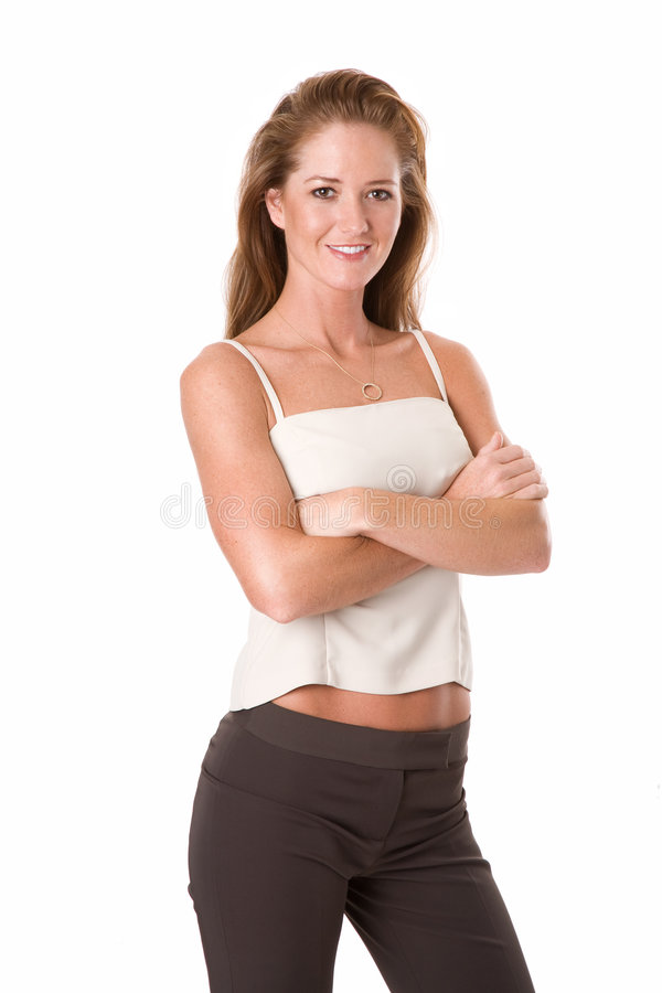 Professional Woman arms crossed royalty free stock image