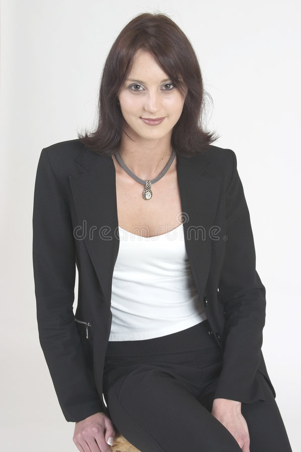 Download Professional Woman Facing Forward In A Relaxed Position Stock Image - Image of office, background: 169263