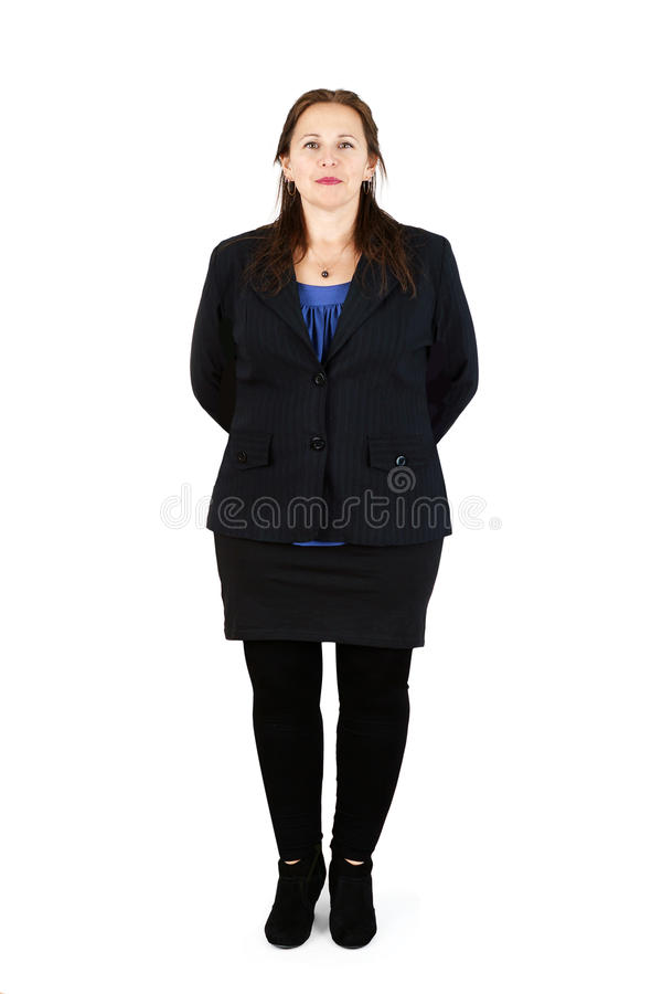 Professional woman over white stock image