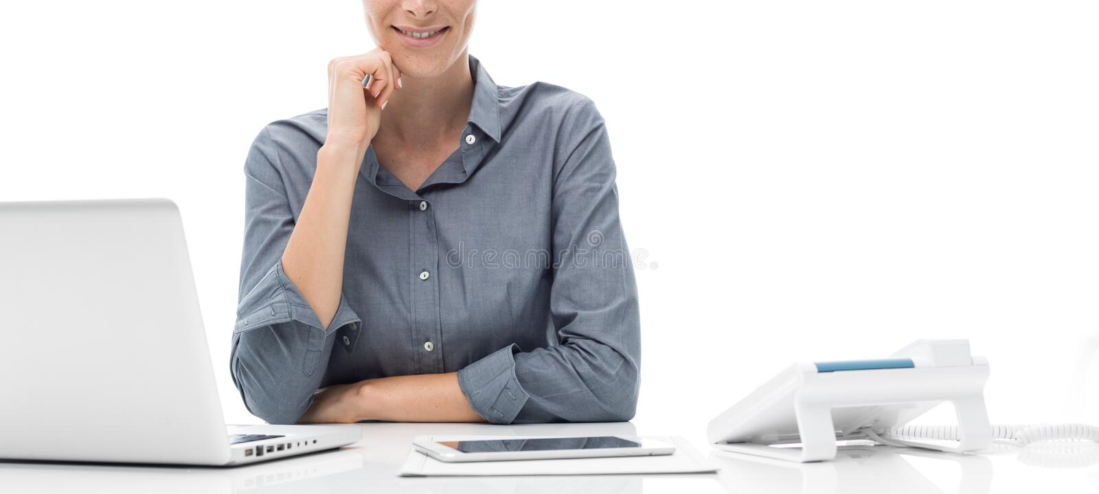 Professional office worker stock photos