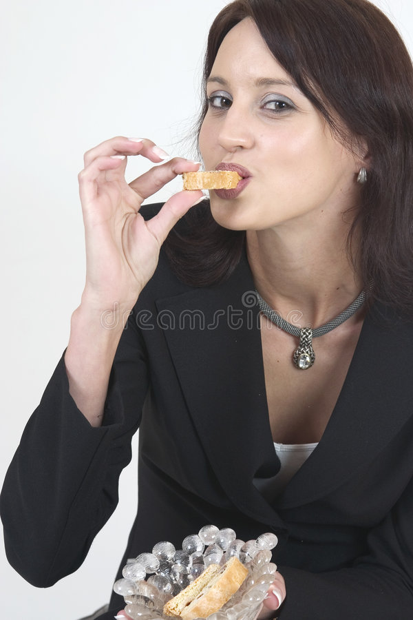 Download Professional young woman stock photo. Image of snack, eating - 169260