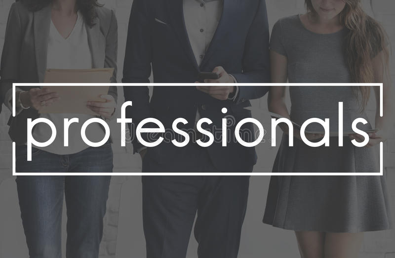 Professionals Business People Expert Accomplished Concept stock image