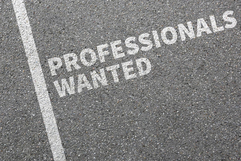 Professionals wanted jobs, job working professional recruitment. Employees business concept royalty free stock photos