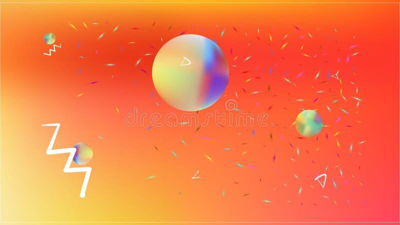 Professioneel abstract ruimte kleurrijk beeld als achtergrond royalty-vrije illustratie