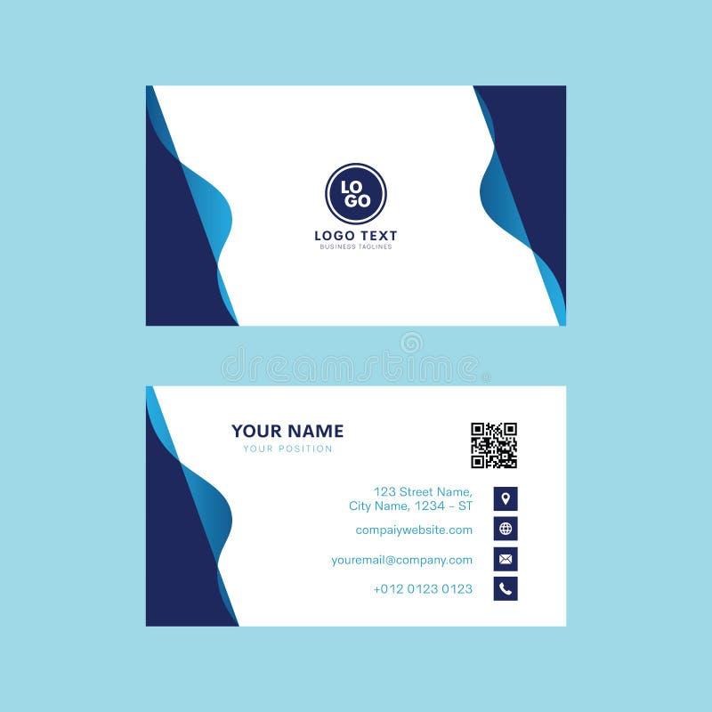 Professioneel adreskaartje vectorontwerp, het malplaatje modern ontwerp van de Uitnodigingskaart stock illustratie