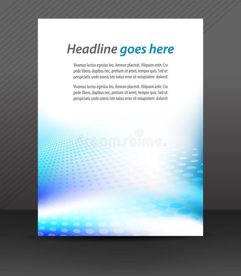 Professioneel bedrijfsvliegermalplaatje of collectieve banner, dekkingsontwerp vector illustratie