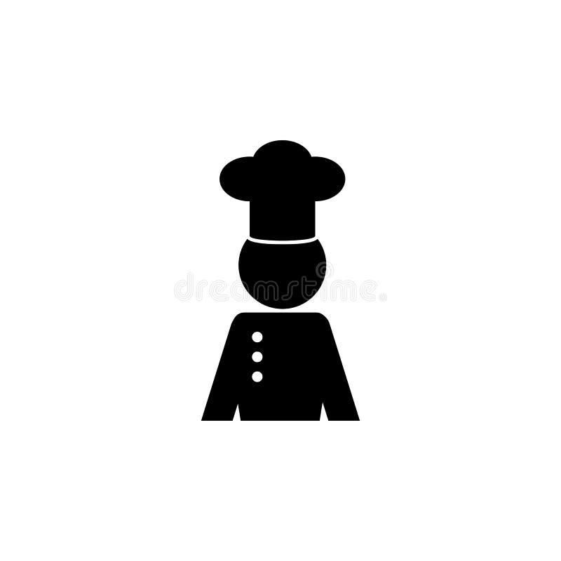 Professioneel chef-kokavatar karakterpictogram Chef-kok, het pictogram van het keukenelement Het grafische ontwerp van de premiek royalty-vrije illustratie