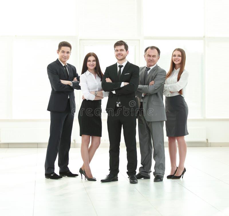 Professioneel commercieel team Foto in de volledige groei stock foto