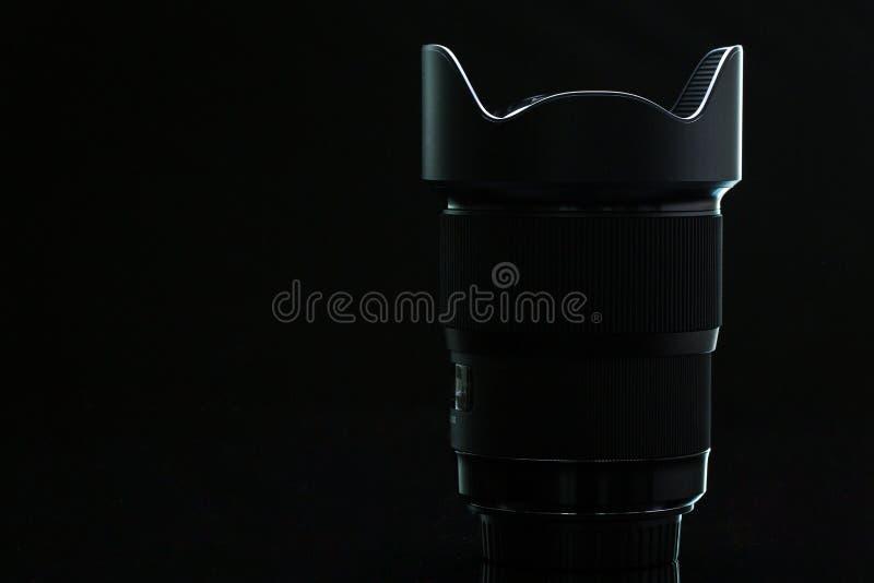 Professioneel modern DSLR-camera llense ow zeer belangrijk beeld royalty-vrije stock foto's