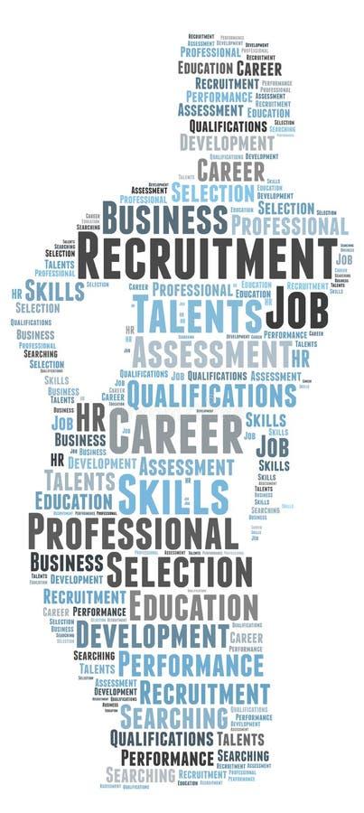 Professioneel rekrutering en talentenonderzoek stock illustratie