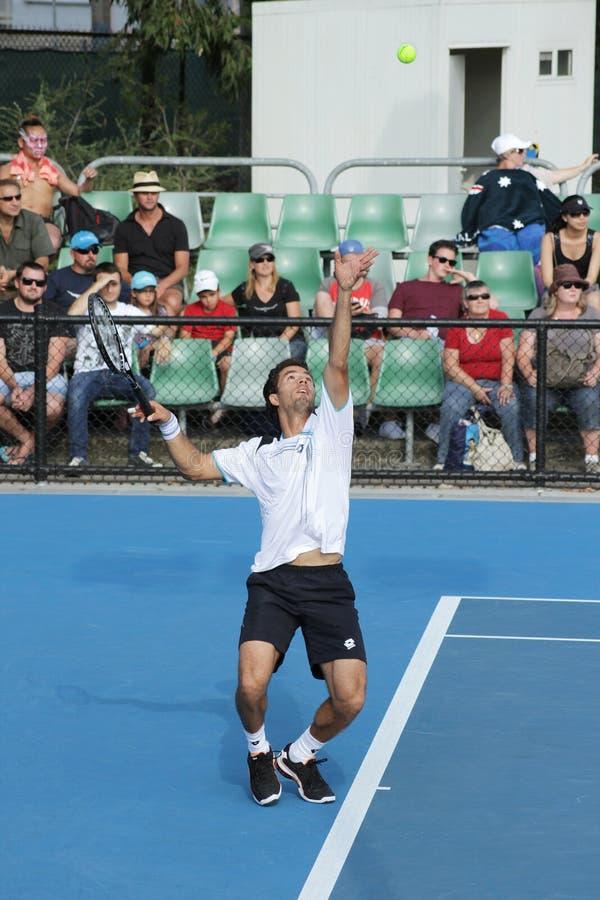 Professioneel tennis bij 2012 Open Australiër stock foto's