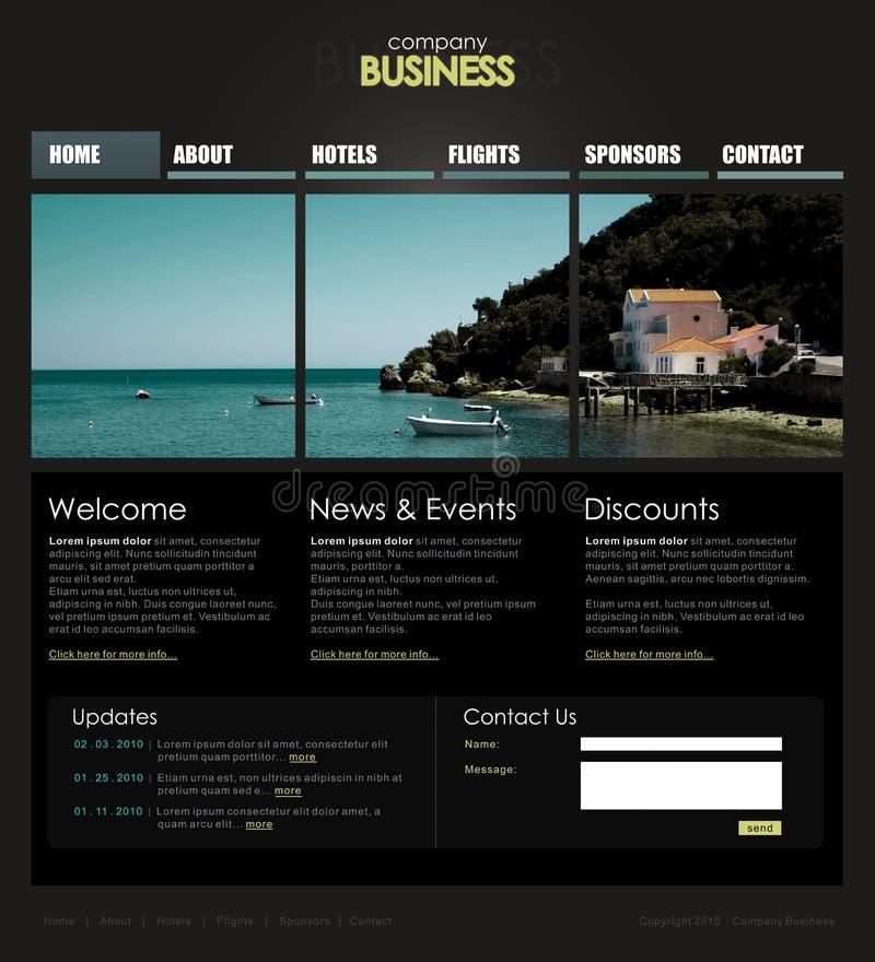Professioneel websitemalplaatje royalty-vrije illustratie
