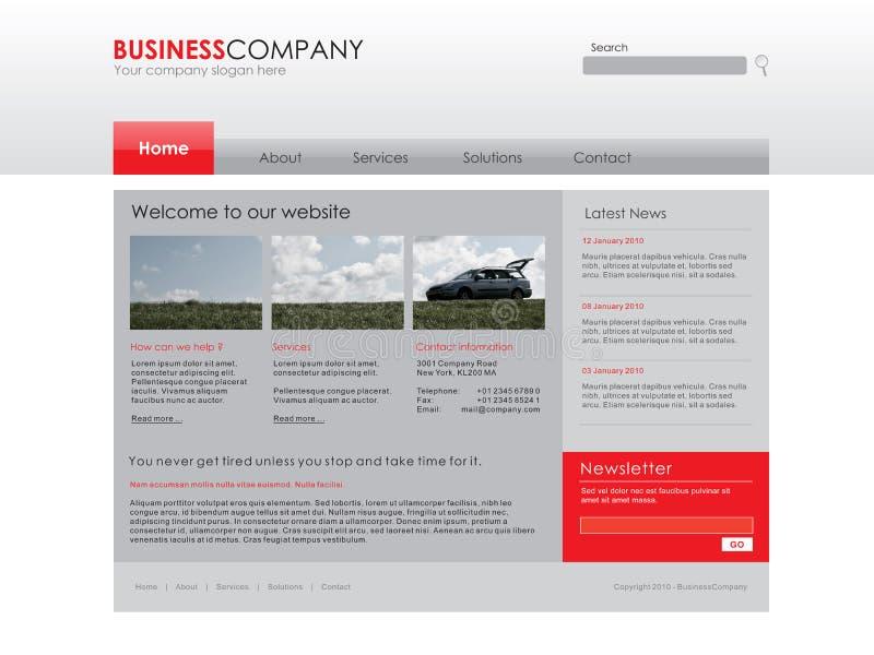 Professioneel websitemalplaatje stock illustratie