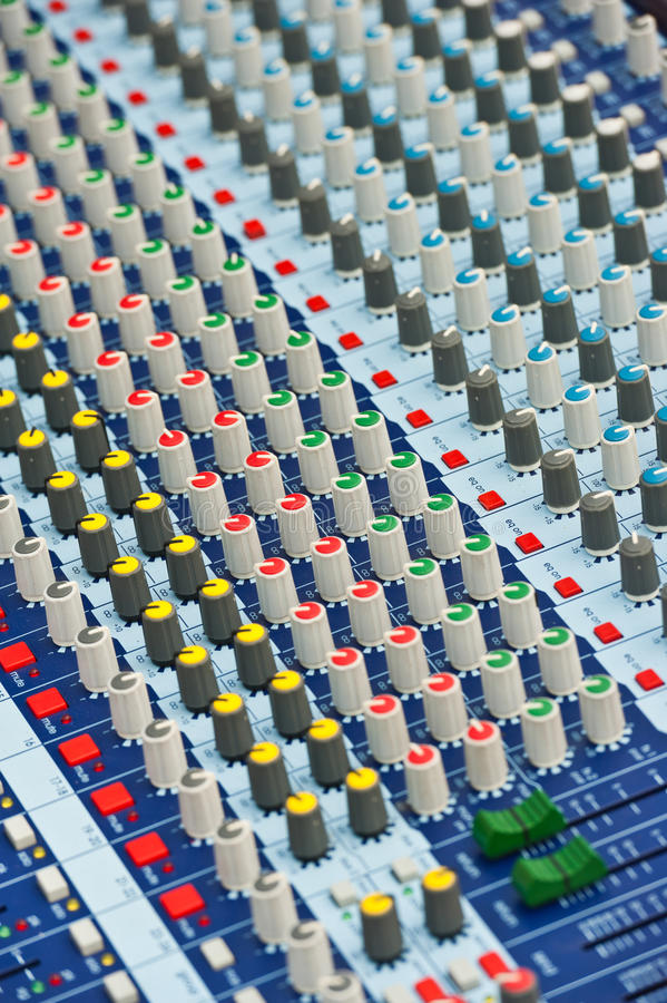 Professionele AudioMixer stock illustratie