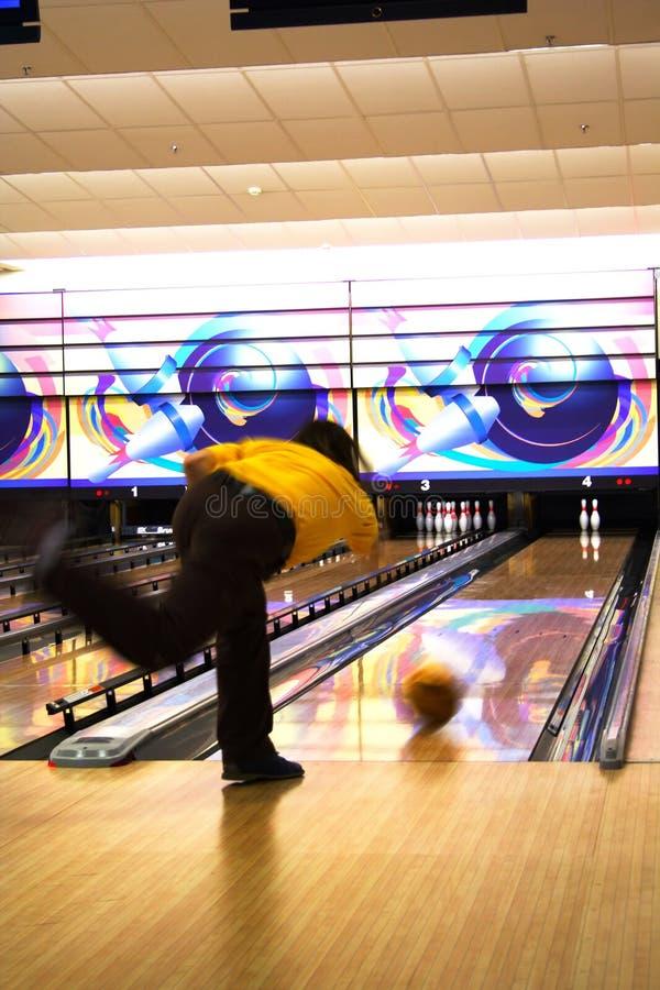 Professionele bowlingspeler royalty-vrije stock afbeeldingen