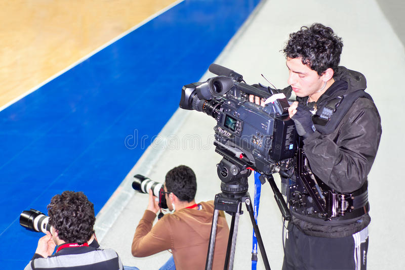 Professionele Cameraman royalty-vrije stock foto