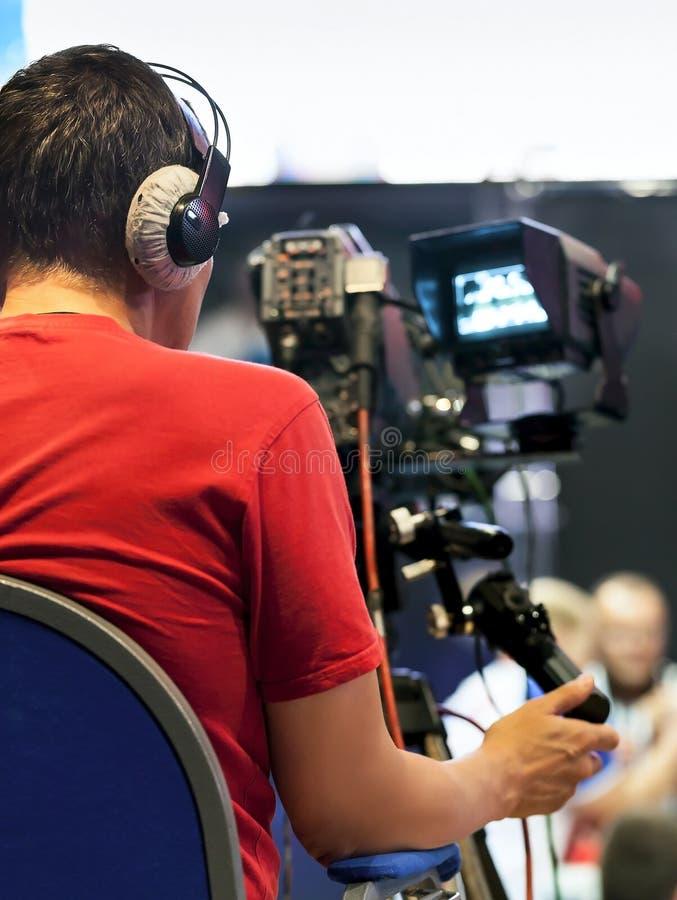 Professionele cameraman royalty-vrije stock foto's