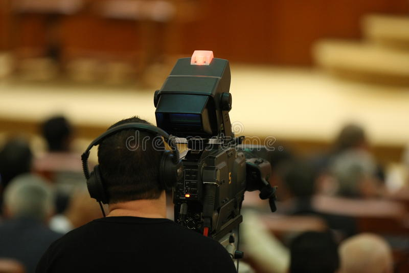 Professionele Cameraman royalty-vrije stock fotografie