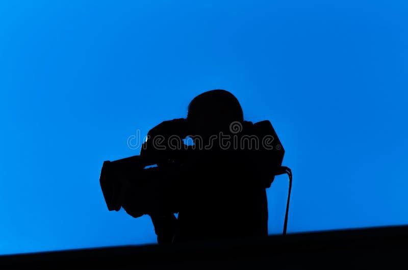 Professionele Cameraman stock afbeelding