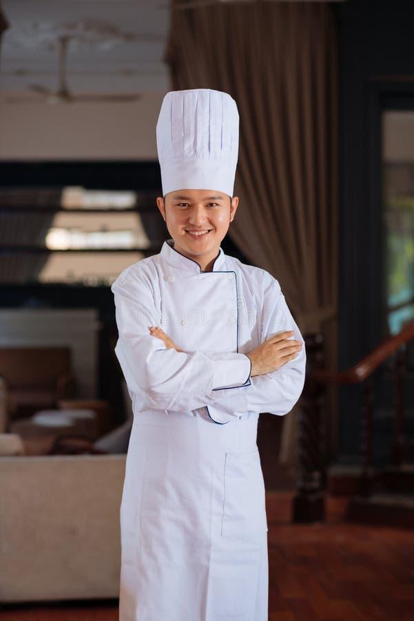 Professionele chef-kok stock foto