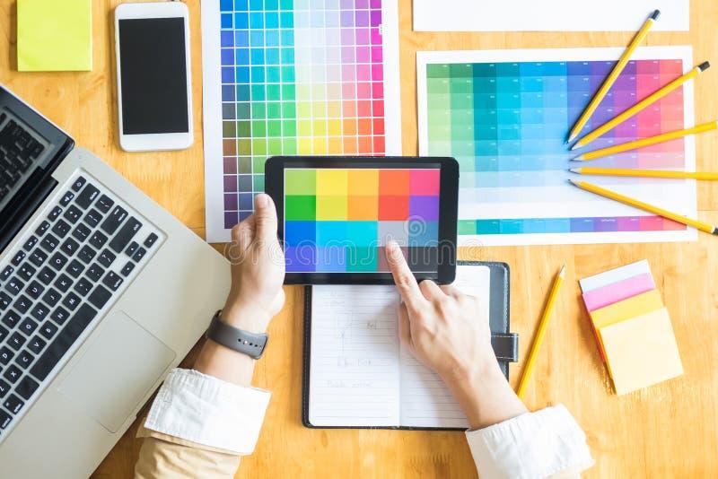 Professionele Creatieve het beroepschoos van architecten grafische desiner stock fotografie