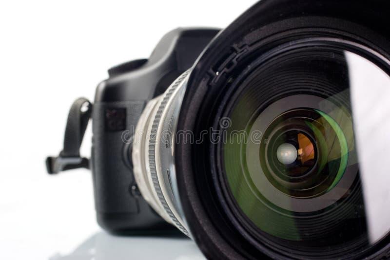 Professionele digitale fotocamera stock afbeelding