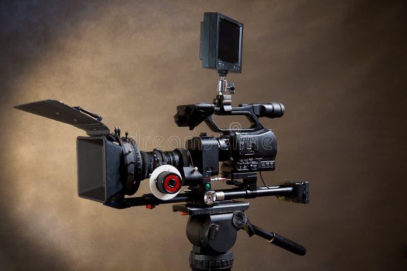 Professionele digitale videocamera. royalty-vrije stock fotografie