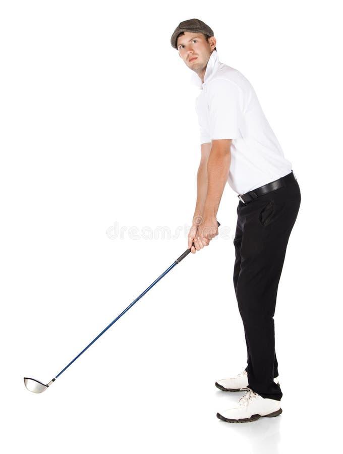 Professionele golfspeler royalty-vrije stock afbeeldingen