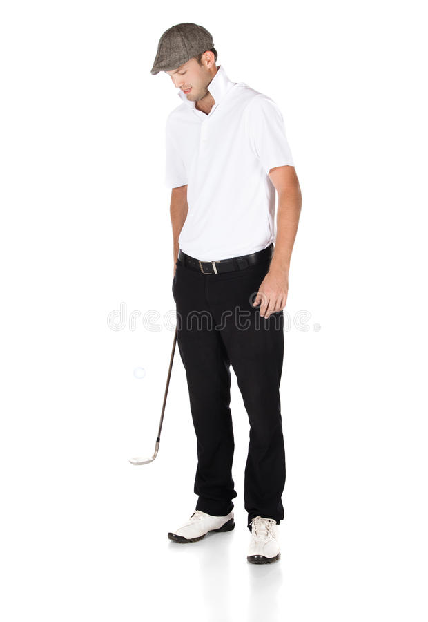 Professionele golfspeler royalty-vrije stock afbeelding