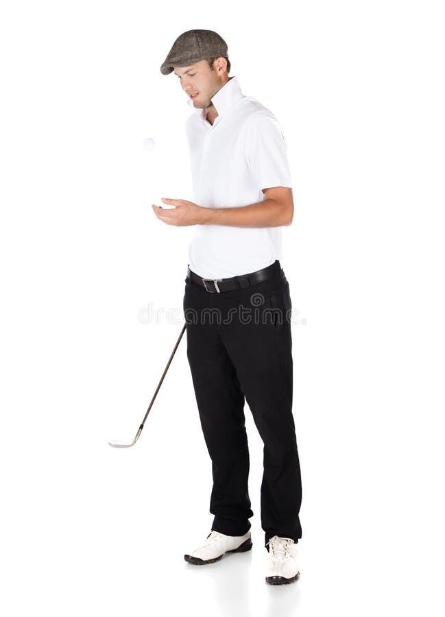 Professionele golfspeler stock foto