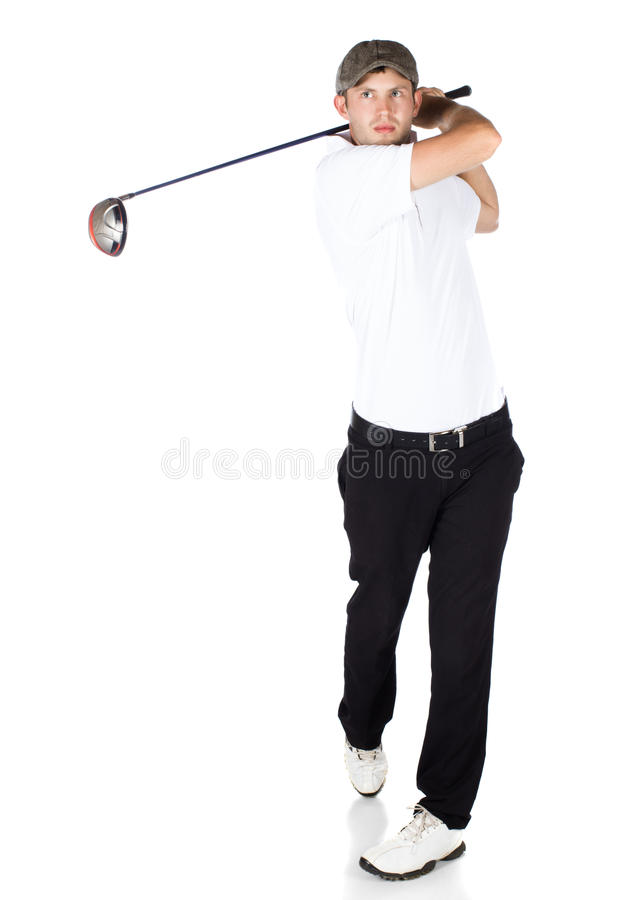 Professionele golfspeler stock foto's