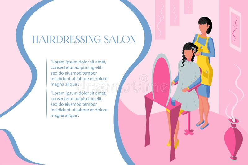 Professionele haarsalon vector illustratie