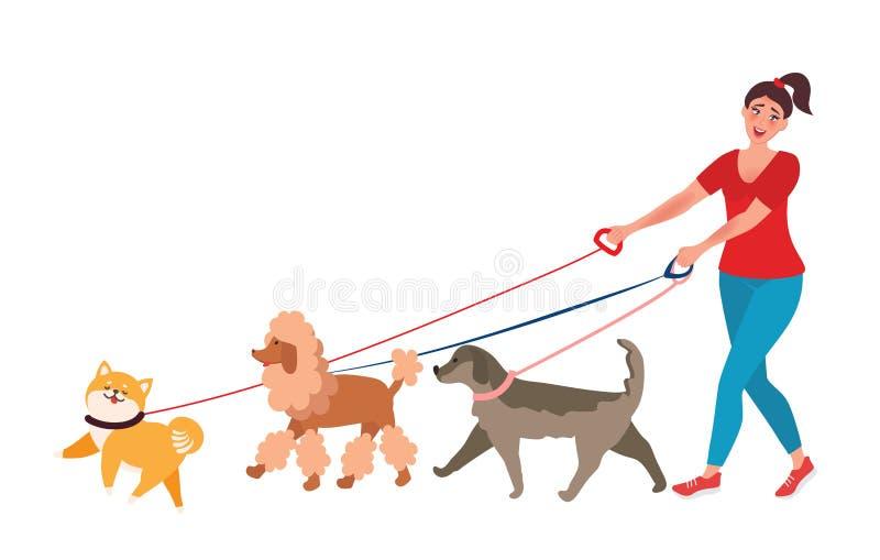 Professionele Hondleurder vector illustratie