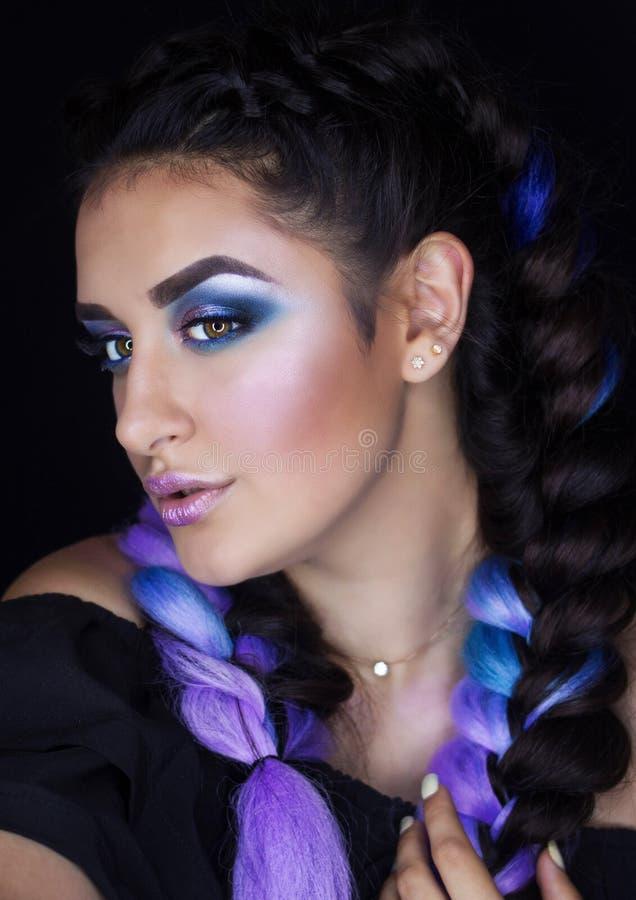 Professionele Make-up voor Brunette stock foto's