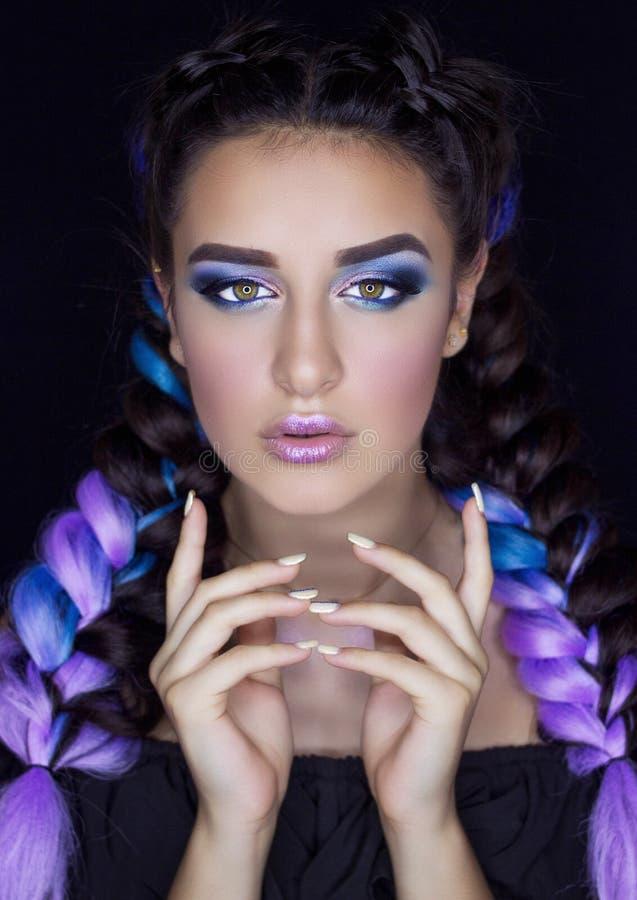 Professionele Make-up voor Brunette royalty-vrije stock foto's