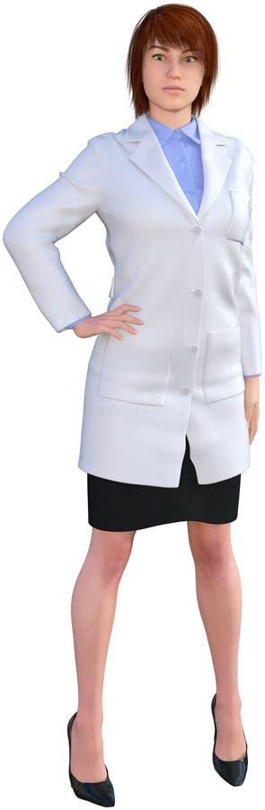 Professionele Medische Arts Woman Isolated stock afbeeldingen