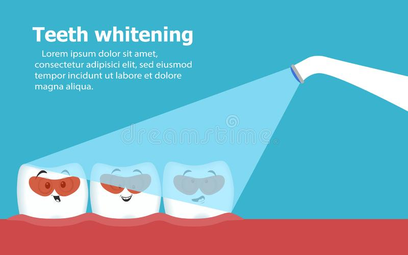 Professionele tanden die vectorillustratie witten vector illustratie