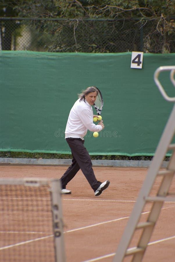Professionele tennisspeler, Ilie Nastase stock foto's
