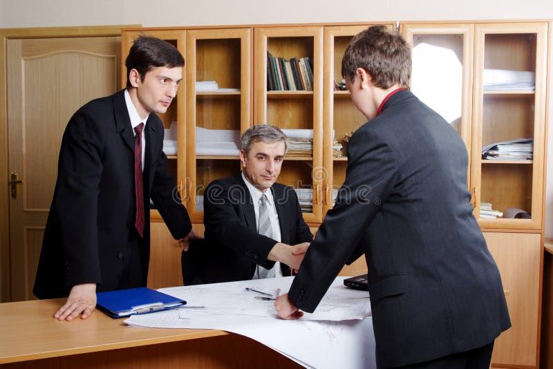 Professionele vergadering stock foto