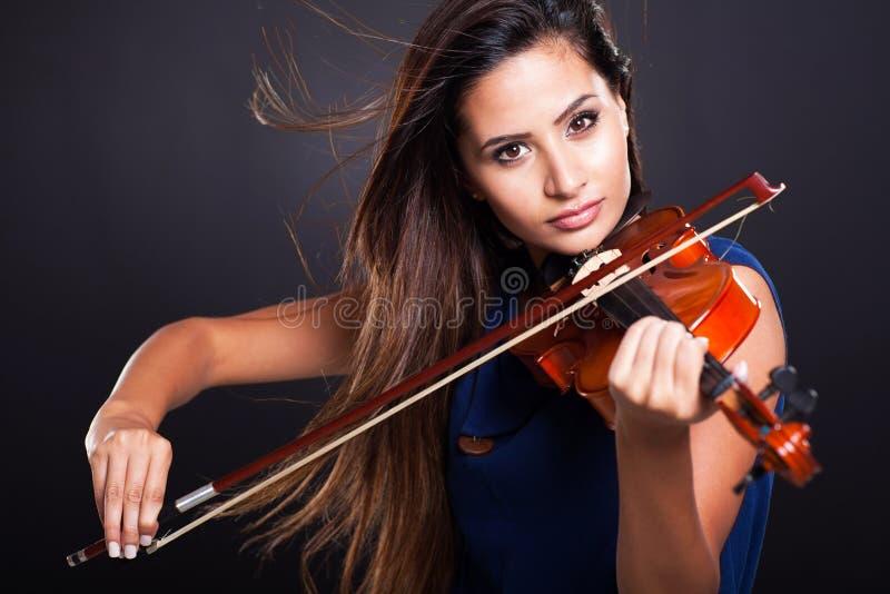 Professionele violist royalty-vrije stock fotografie