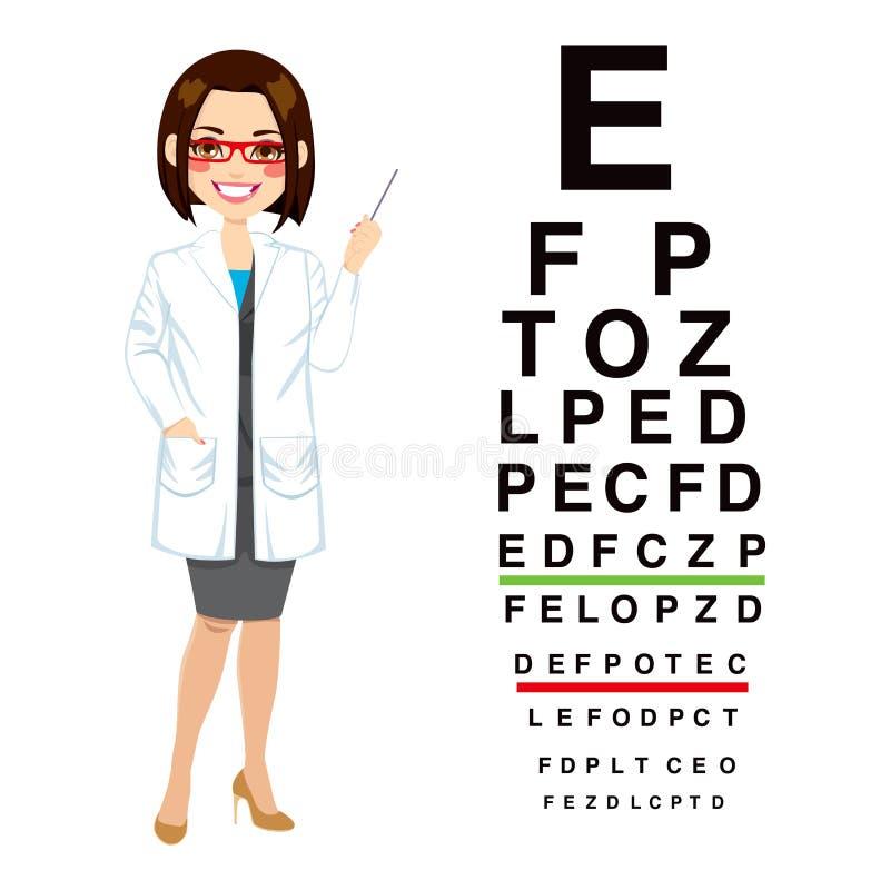 Professionele Vrouwelijke Opticien stock illustratie