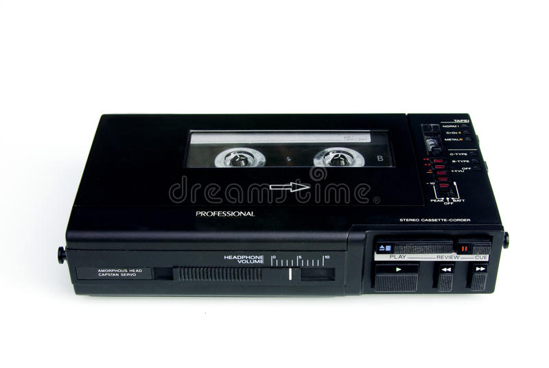 Download Professionele Walkmancassetterecorder Royalty-vrije Stock Fotografie - Afbeelding: 17261707
