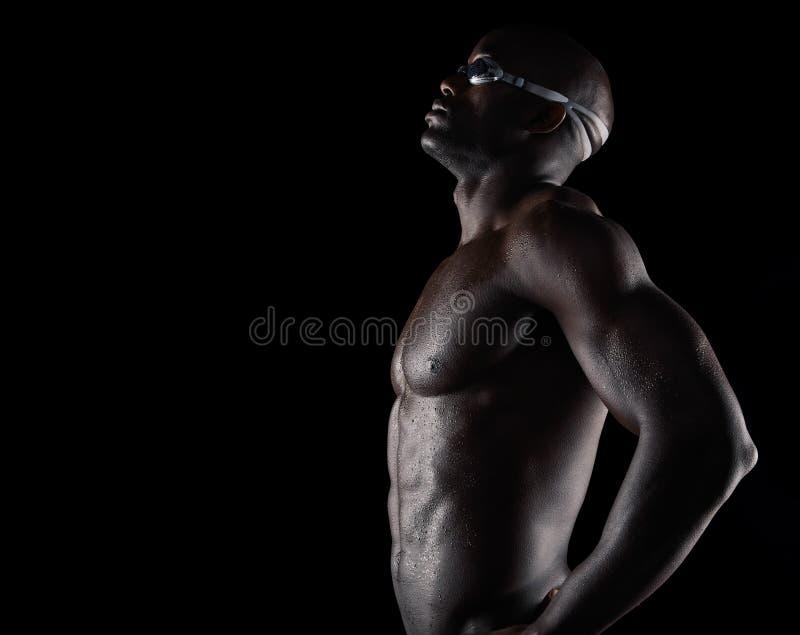 Professionele zwemmer die voor de concurrentie voorbereidingen treffen royalty-vrije stock foto's