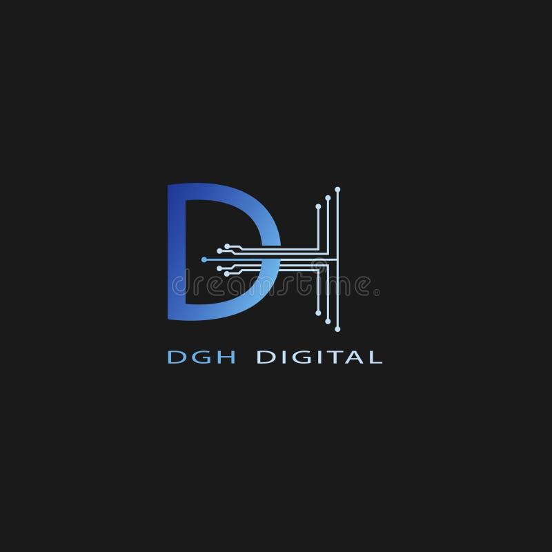 ProfessionellDH-logo för all sortaffär stock illustrationer