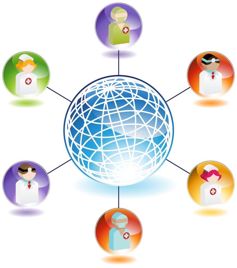 Professionisti medici globali illustrazione di stock