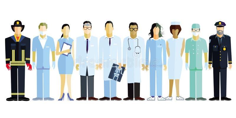 Professionisti medici illustrazione vettoriale